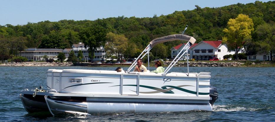South Shore Pier - Door County Boat Rentals - Pontoon Boats